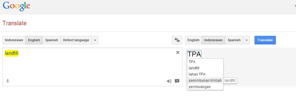 google translate tpa
