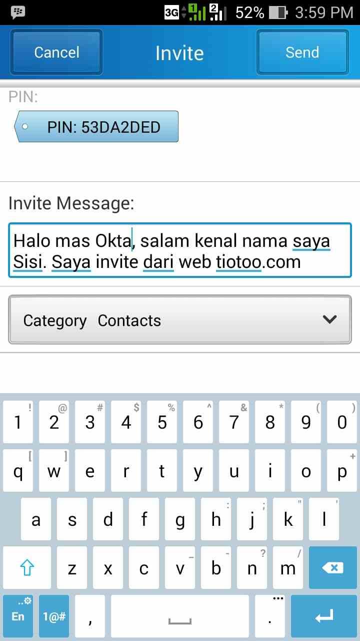 invite tiotoo bbm
